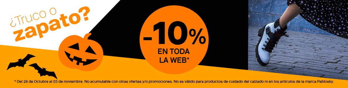 ¡Halloween con 10% de ahorro en Deichmann! en toda la web.