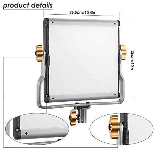 Neewer 2 Pack Regulable Bi-color 480 LED de Luz de Vídeo y Kit de Iluminación de Soporte
