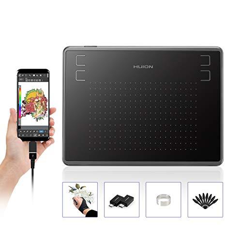 HUION Inspiroy H430P, Tableta de Dibujo gráfico de 4.8 x 3 Pulgadas, Tableta gráfica con 4 Teclas de Acceso Directo, 4096 Niveles de lápiz
