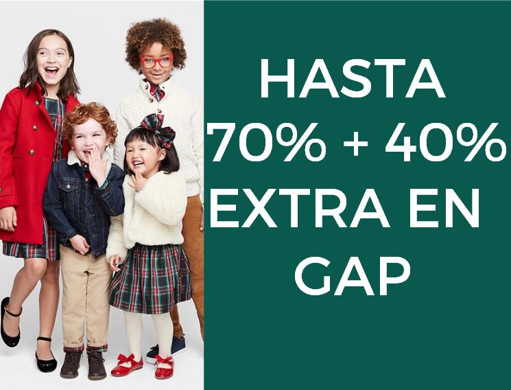 Hasta 70% + 40% en GAP