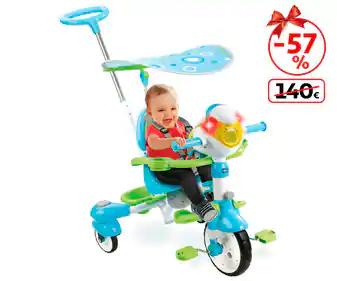 Triciclo para niños mayores de 9 meses. También en color rosa