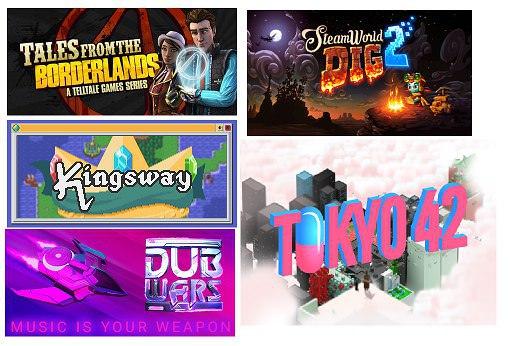 5 juegos GRATIS (Tales of the Borderlands, SteamWorld Dig 2,Kingsway, Tokyo 42 y Dubwars)