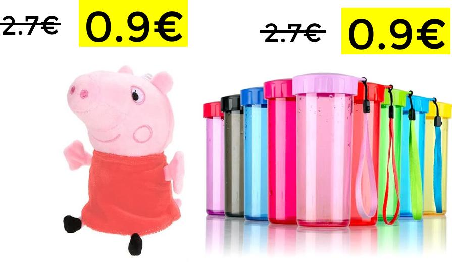 Miniprecios Joybuy, peluche o botella 0.9€