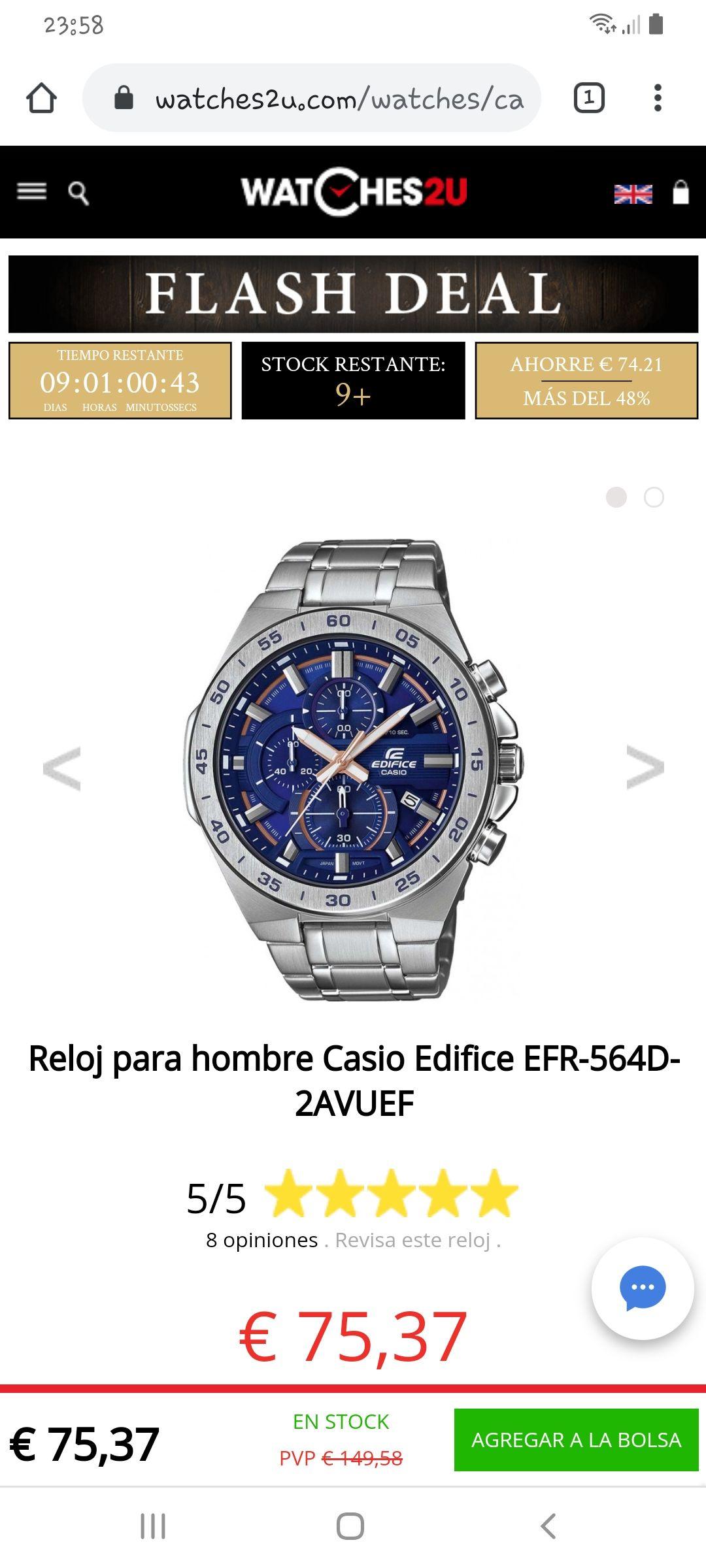 Relojpara hombreCasioEdificeEFR-564D-2AVUEF