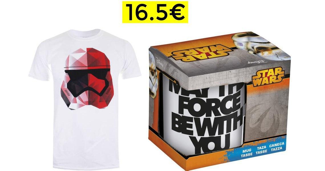 Pack Star Wars Camiseta + Taza solo 16.5€