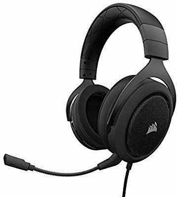 Auriculares Corsair HS50 Stereo con micrófono desmontable para PS4/XBOX/Pc/Switch por 44,99 €