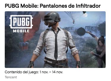 PUBG Mobile: Pantalones de Infiltrador con Twitch Prime