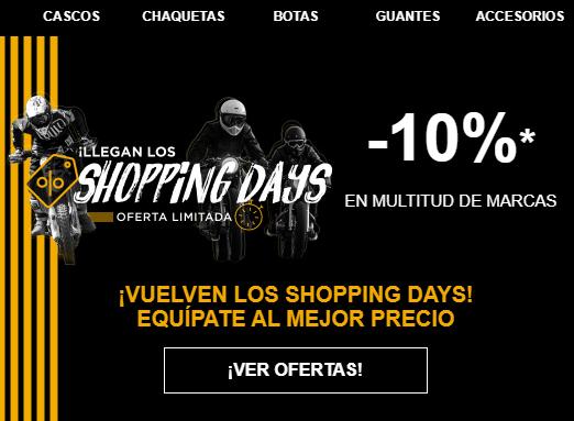 Motoblouz - Shopping Days con un -10% de descuento extra