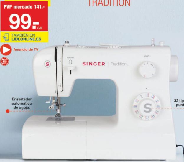 LIDL (LUNES 04/11): Vuelve la Singer Tradition a 99€ y más máquinas y accesorios de costura