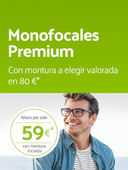 Gafas monofocales por 59€ (cristales+montura)