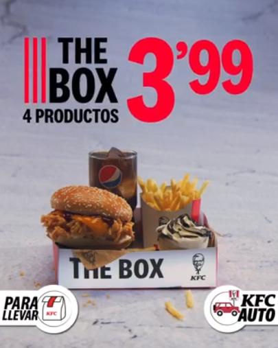 The Box de KFC: 4 productos por 4€