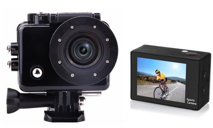 Camara deportiva HD con pantalla LCD - Accesorios incluidos