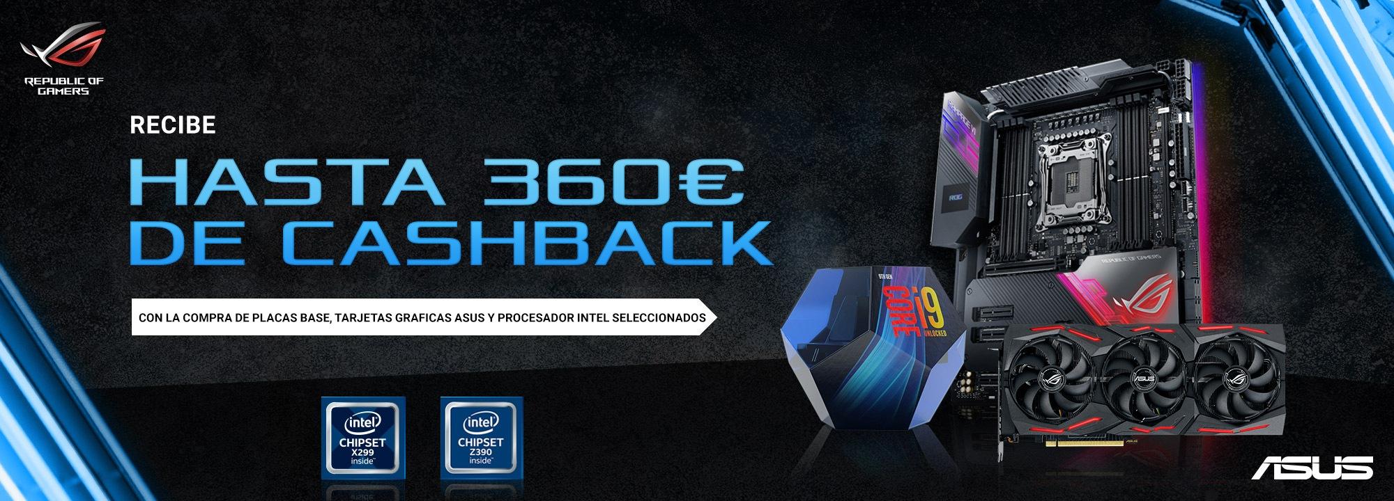 Cashback de ASUS e Intel