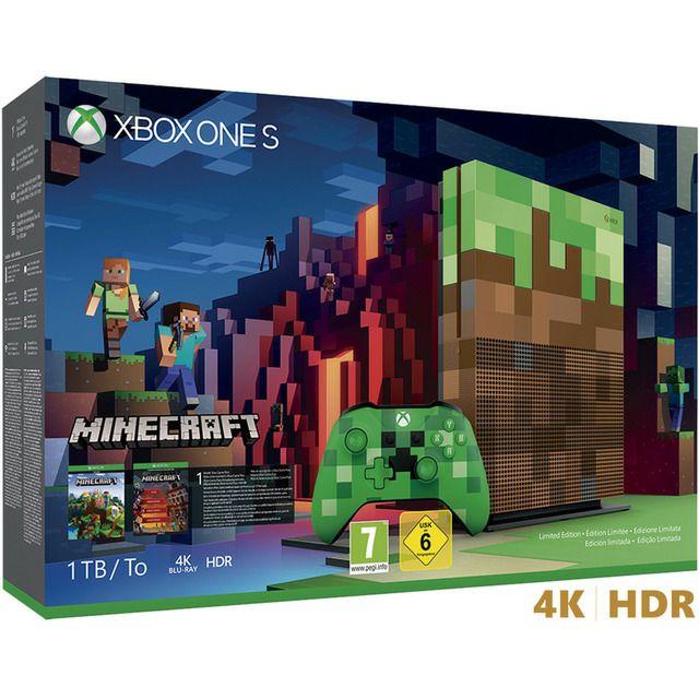 Consola Xbox One S de 1 TB Edición Limitada Minecraft