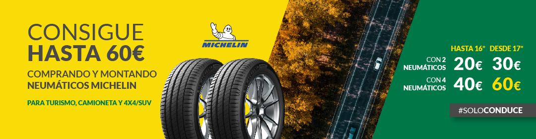 Hasta 60€ de regalo montando neumático Michelin en Feuvert