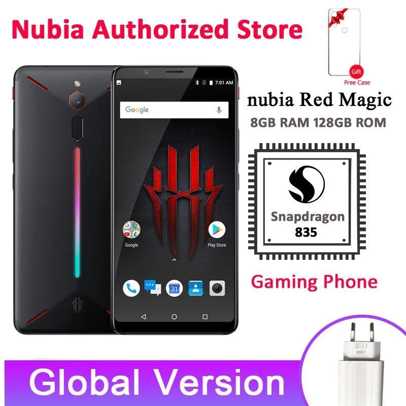 Versión Global Nubia Red magic Snapdragon 835 8GB RAM 128GB ROM huella digital Android 8,1 soporte OTA