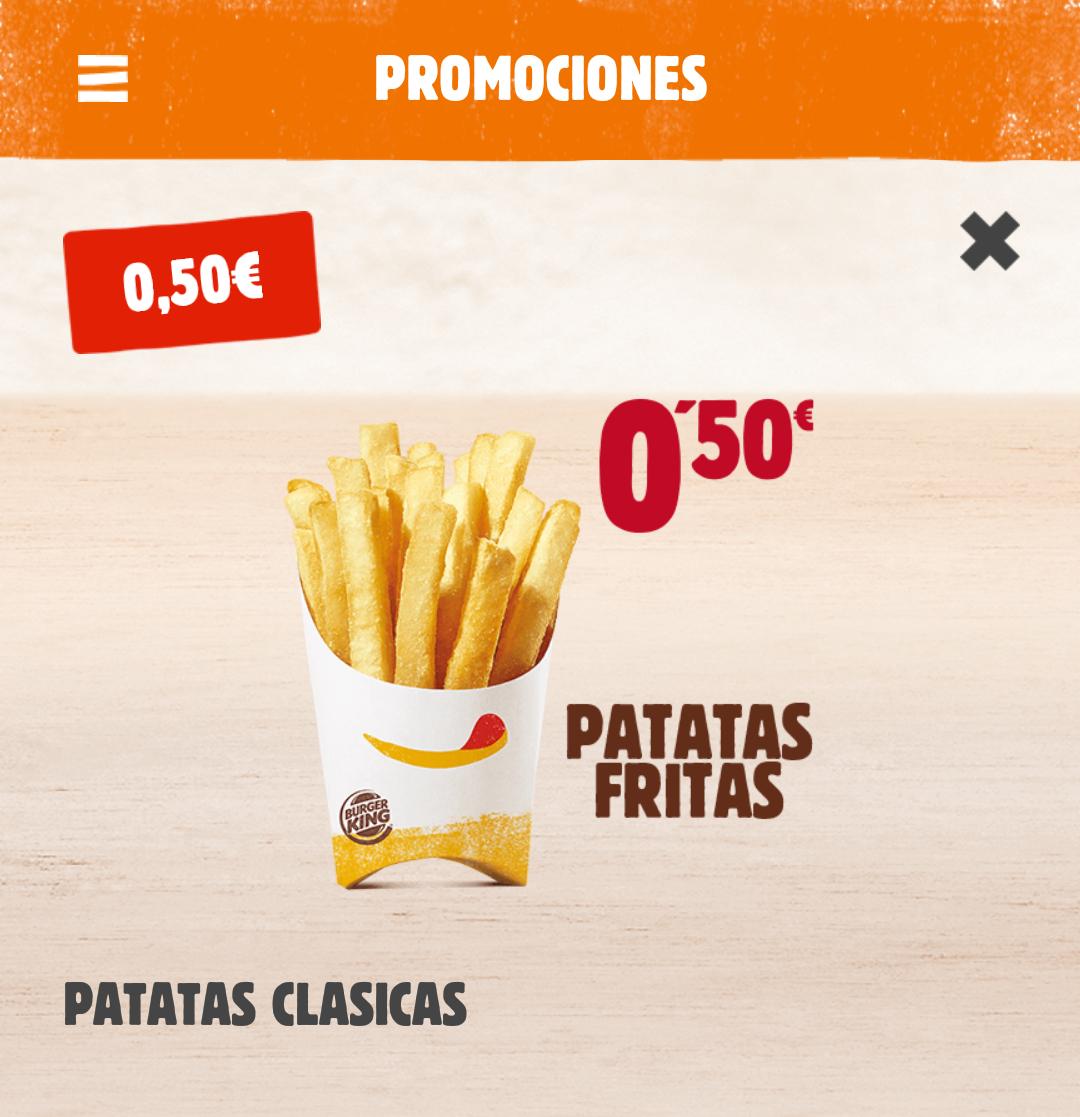 Patatas Fritas a 0,5€!! En Burger King