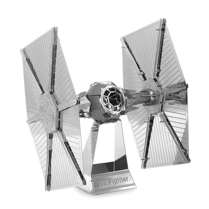 """Figura 3D """"Tie Fighter"""" de Star Wars metálico"""