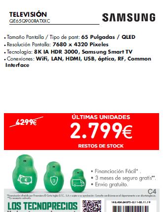 "Televisor Samsung 8K 65"" QLED"