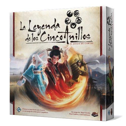 Asmodee - La Leyenda de los Cinco Anillos, juego de cartas - ESPAÑOL