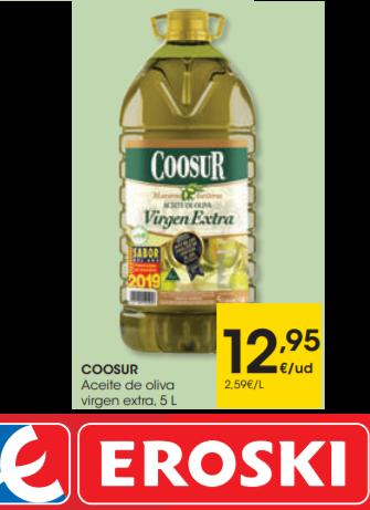 Aceite de Oliva Virgen Extra COOSUR 5L (2,59€/LITRO)