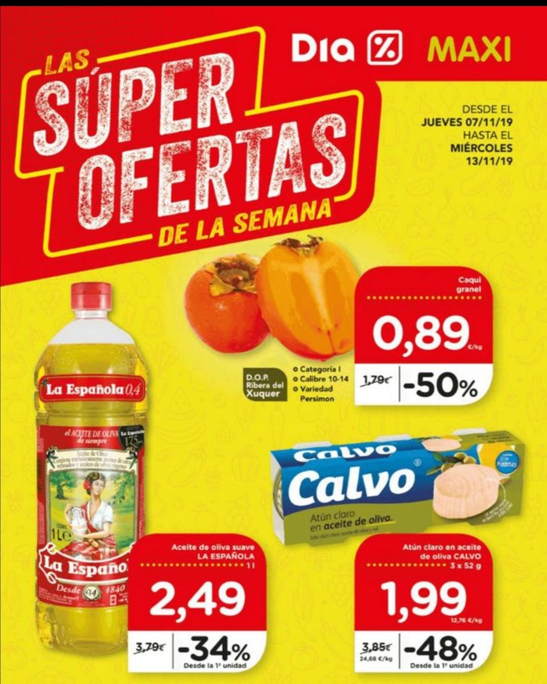 Super ofertas en supermercados Dia.