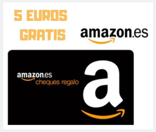 5 euros de regalo en Amazon