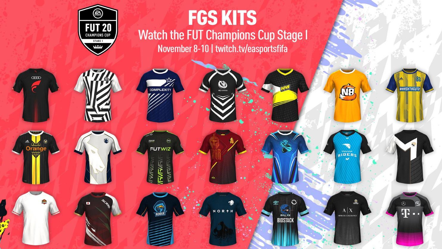 Camisetas gratis para FUT Champions con Twitch (8-10 Noviembre)