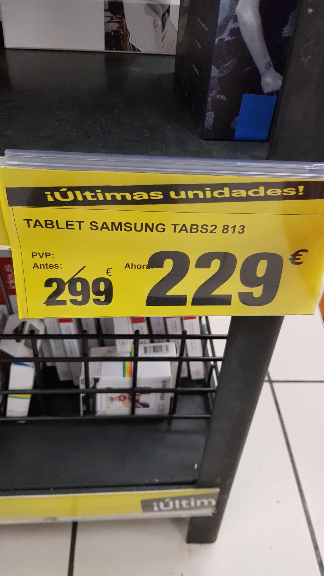 Galaxy tab s2 en Carrefour Cáceres