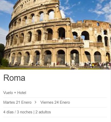 Enero 4 días en Roma 116€/p = 3 noches en hotel 3* con desayuno + vuelos desde Madrid