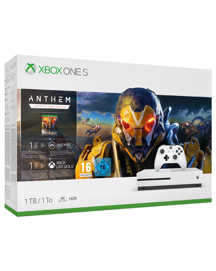 Xbox One S 1TB + Anthem Edición Legión del Alba