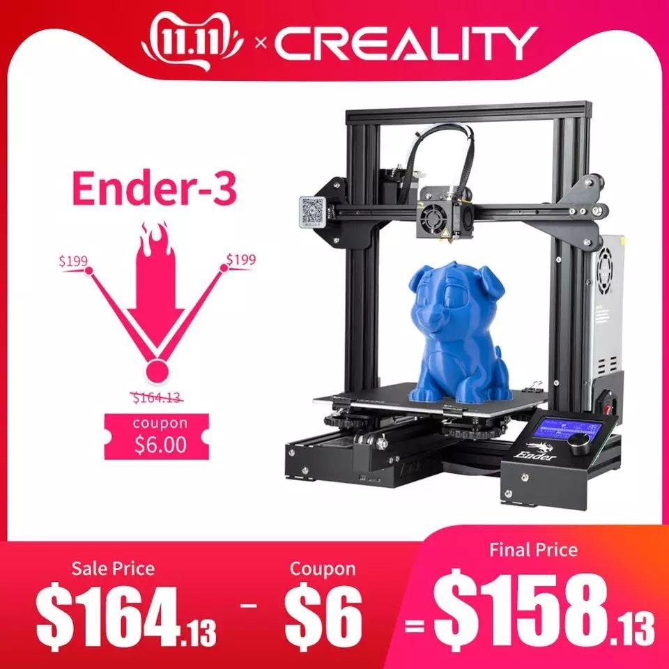 Impresora CREALITY 3D Ender-3X de vidrio templado mejorado + 5 boquillas