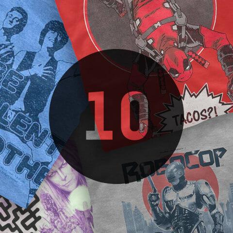 """10 camisetas """"frikis"""" sorpresa"""