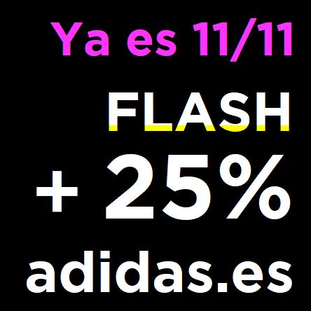 11/11 en ADIDAS: Ofertas Flash + 25% EXTRA