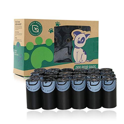 Green Maker Bolsas de Compost para Perros 30% más Grueso que Otros 360 Bolsas de Desechos Biodegradables para Perros