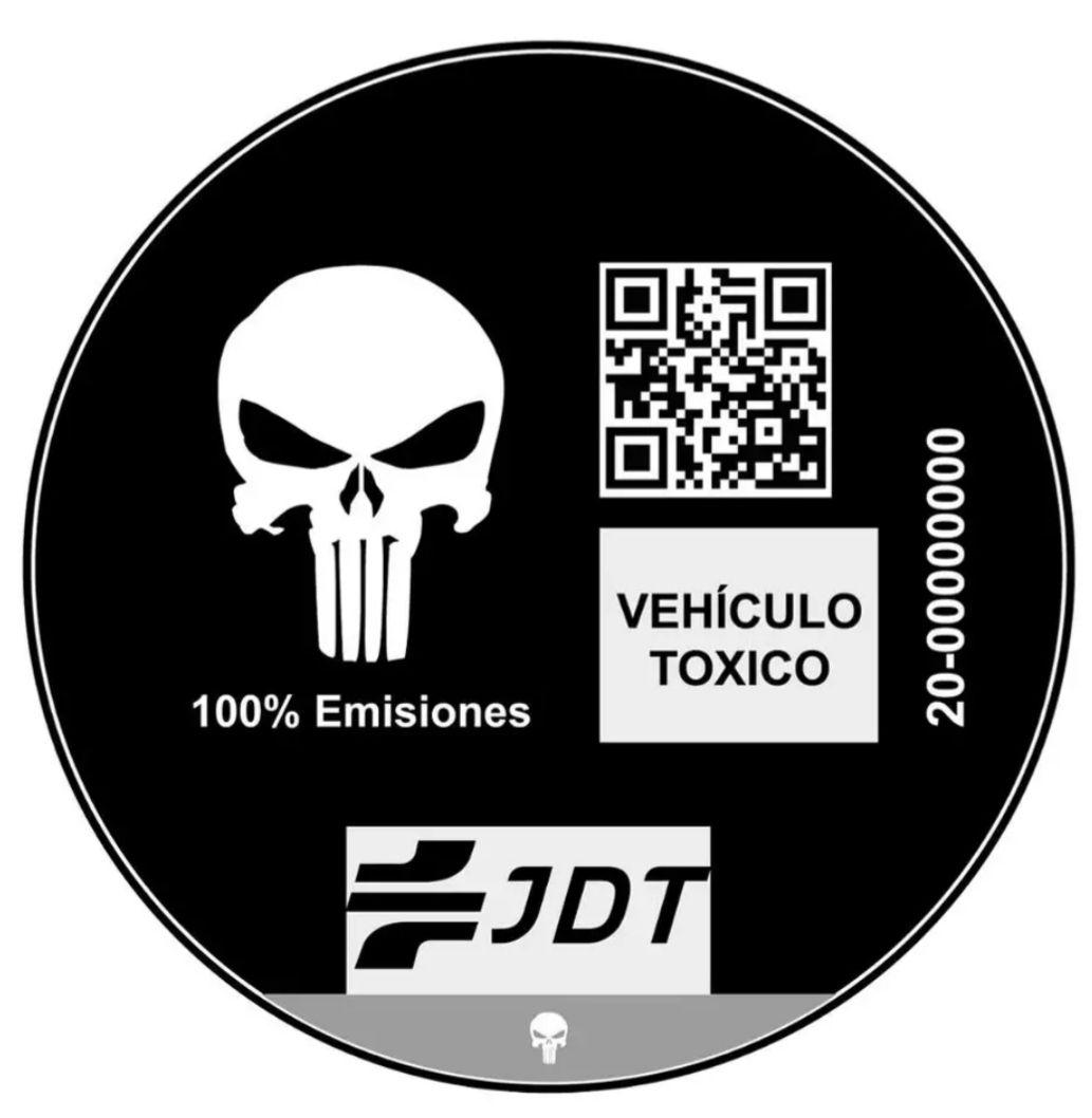 [11.11] Pegatina Medioambiental JDT [PLAZA]