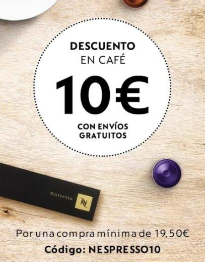 Descuento de 10€ en Nespresso