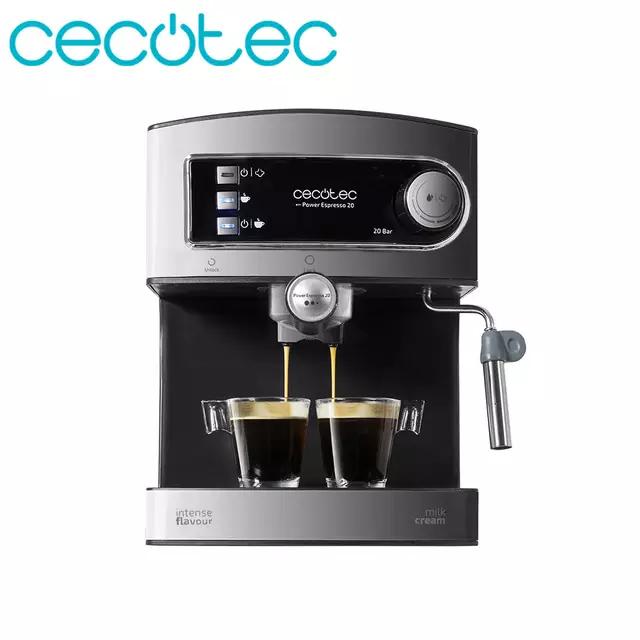 Cecotec Espresso Cafetera con Doble Salida y Vaporizador Orientable para Leche
