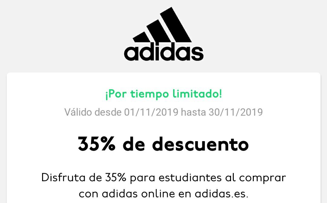 35% de Descuento en Adidas con UNiDAYS