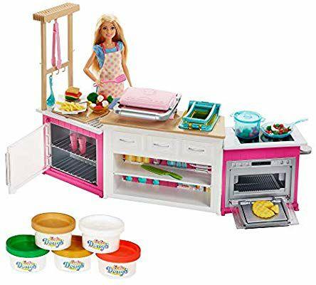 Barbie Quiero Ser Superchef, cocina con accesorios y muñeca