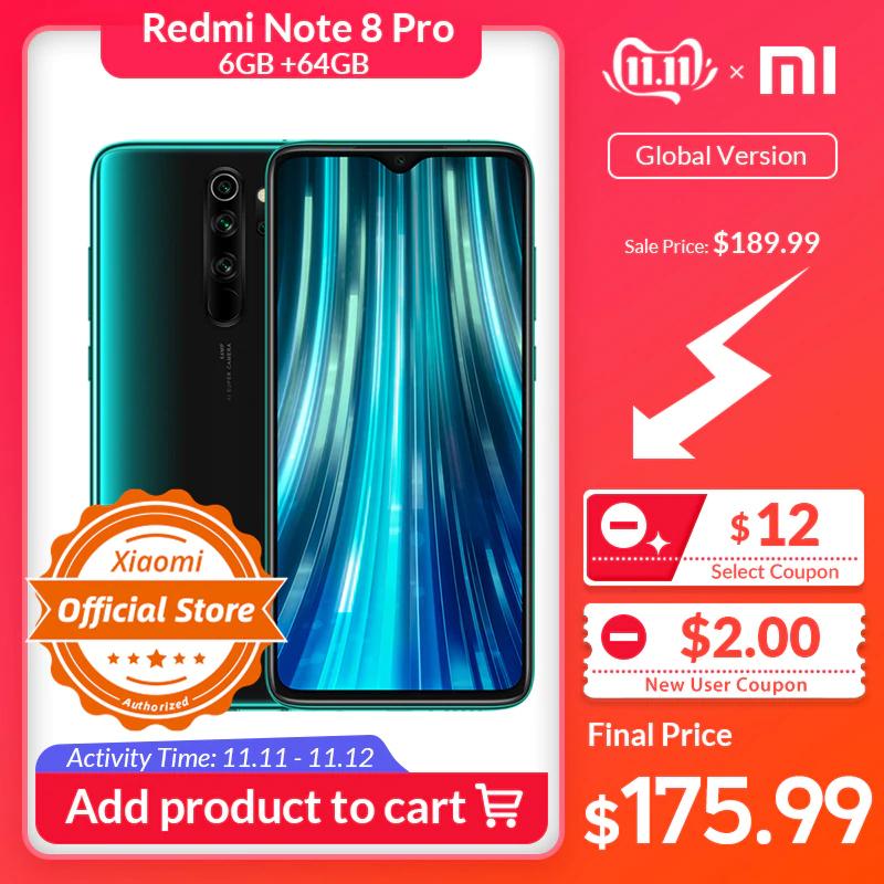Xiaomi Redmi Note 8 Pro 6GB 64GB + Mi Band 3 + Cascos