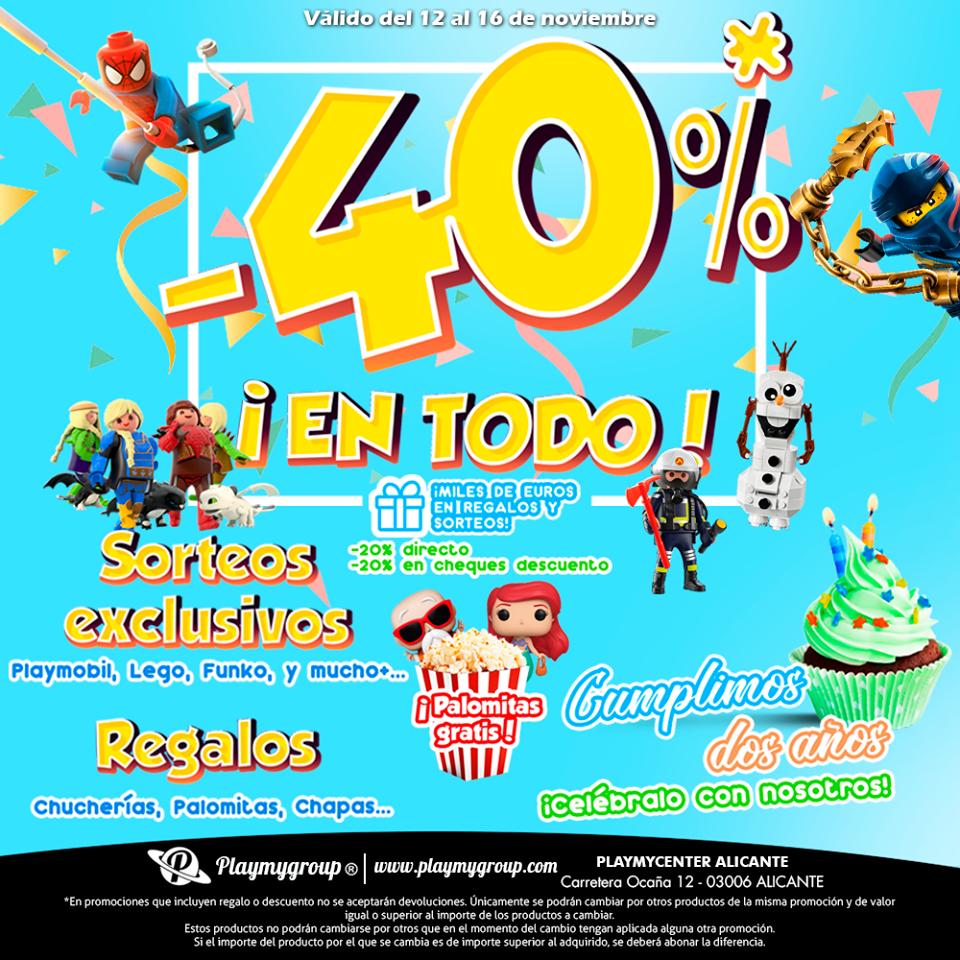 Dto. 20%+20% Playmobil, Funko, Lego etc