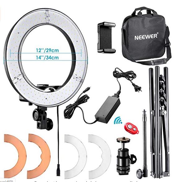 Anillo de luz LED exterior Neewer 36 cm