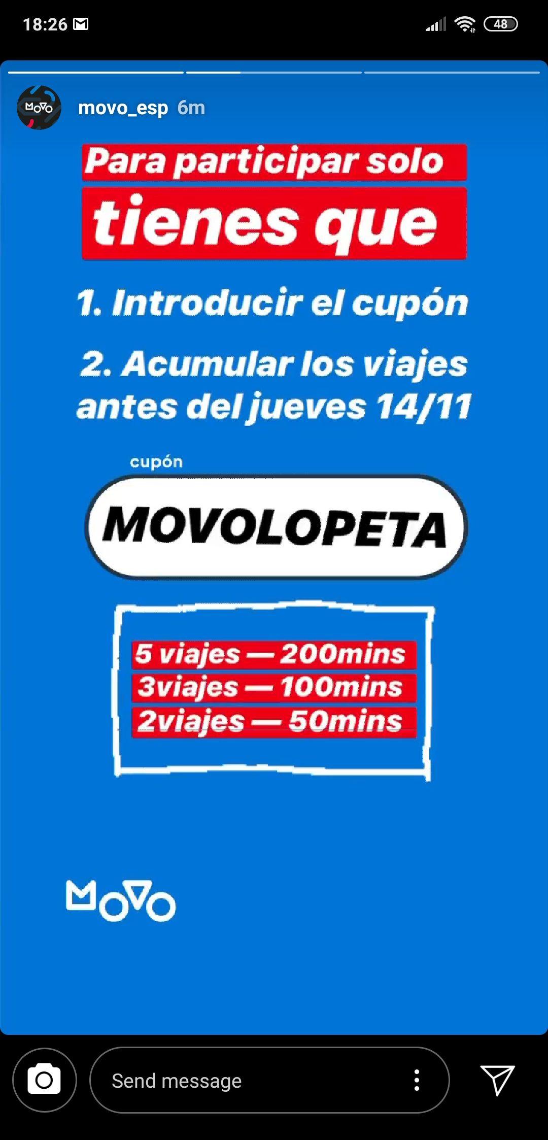 MADRID, 50, 100 Y 200 MINUTOS MOVO