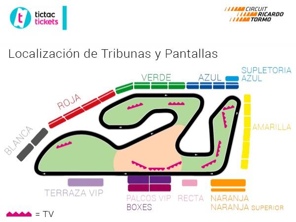 2X1 entradas Tribunas Roja y Blanca GP Comunidad Valenciana
