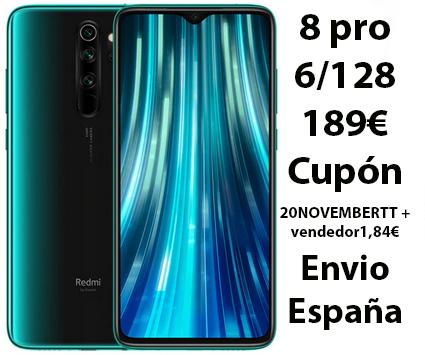 Xiaomi Redmi Note 8 pro 6/128 desde España