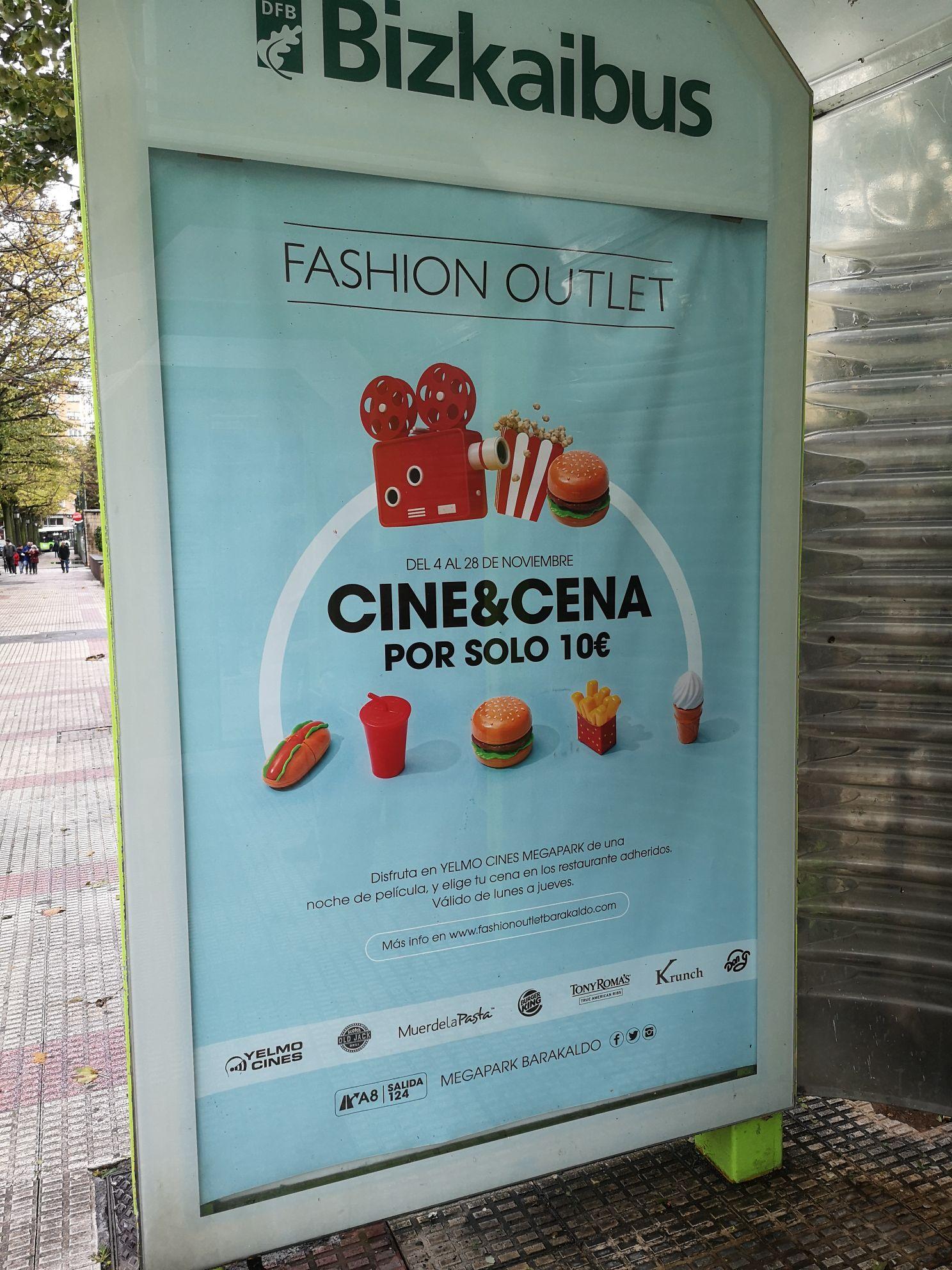 Cine y cena (Fashion outlet de Barakaldo)
