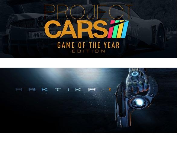 Project Cars GOTY y ARKTIKA.1 VR  Tienda Oculus