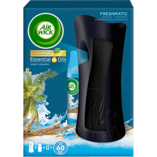 Air Wick Ambientador Freshmatic Completo Life Scents Oasis Turquesa, Aparato + recambio