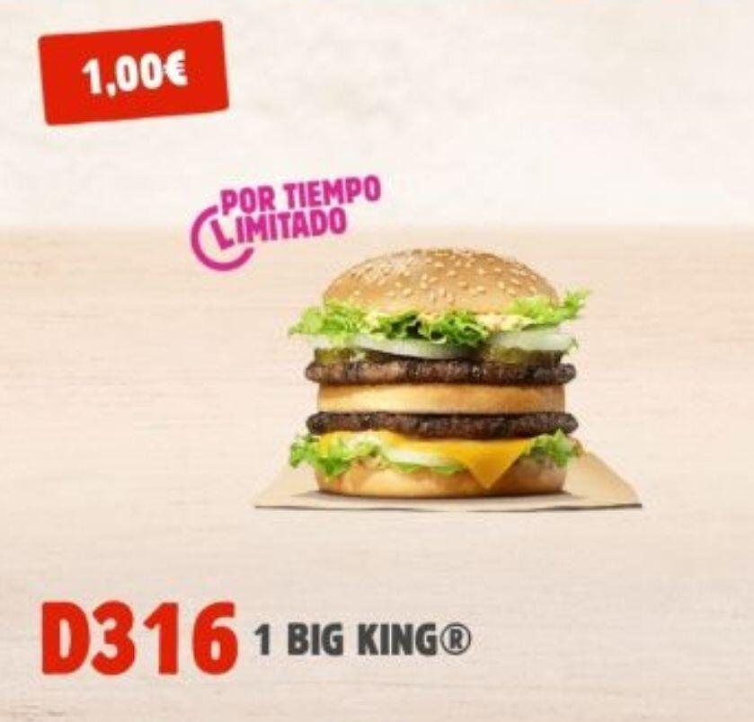 Vuelve el Big King a 1€